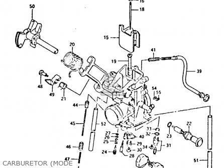 Suzuki Dr350 1990 l Carburetor mode