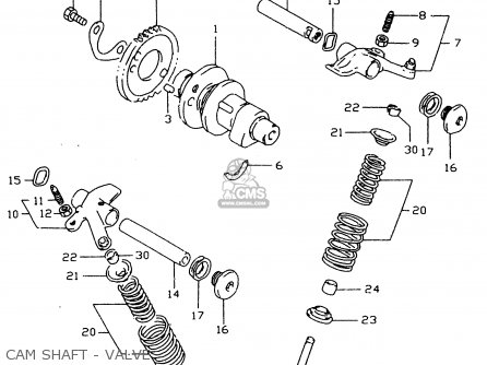 Suzuki Dr350 1998 sex Cam Shaft - Valve