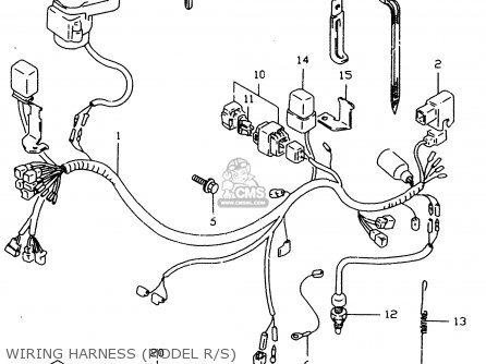 Suzuki Dr350 1998 sex Wiring Harness model R s