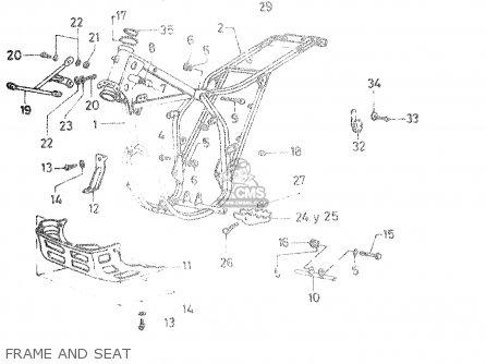 Suzuki Dr50 Big 1986 g Frame And Seat