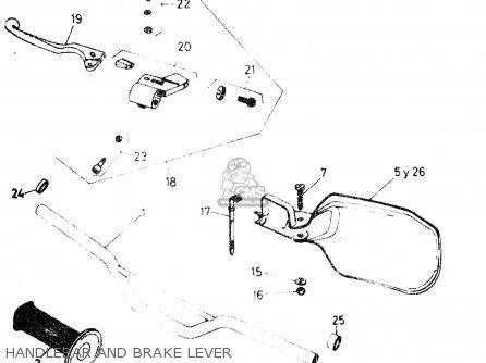 Suzuki Dr50 Big 1986 g Handlebar And Brake Lever