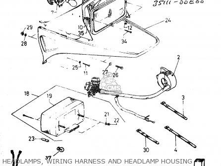 Suzuki Dr50 Big 1986 g Headlamps  Wiring Harness And Headlamp Housing