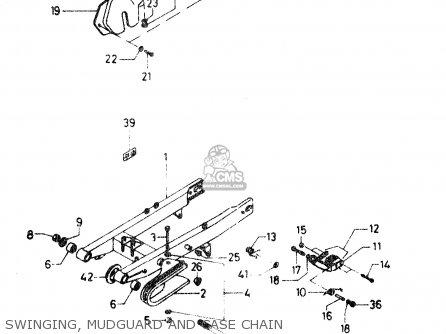 Suzuki Dr50 Big 1986 g Swinging  Mudguard And Case Chain