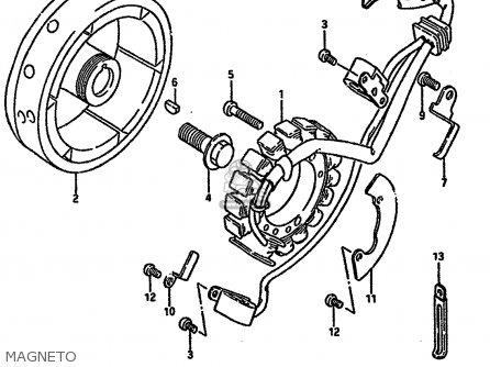 Suzuki Dr600r1989 K Parts Lists And Schematics
