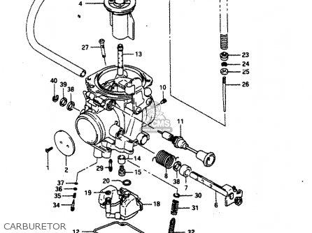 suzuki dr650 1990  rl  parts list partsmanual partsfiche