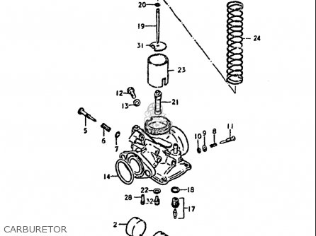Suzuki Ds100 1978-1981 usa Carburetor