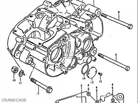 Suzuki Ds100 1978-1981 usa Crankcase