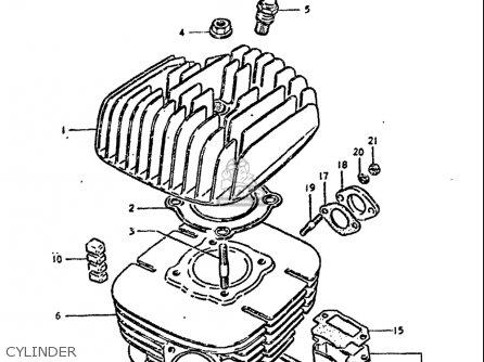 Suzuki Ds100 1978-1981 usa Cylinder