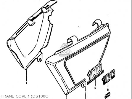 Suzuki Ds100 1978-1981 usa Frame Cover ds100c
