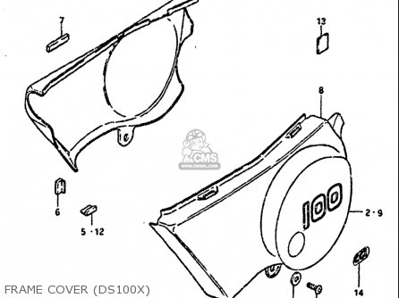 Suzuki Ds100 1978-1981 usa Frame Cover ds100x