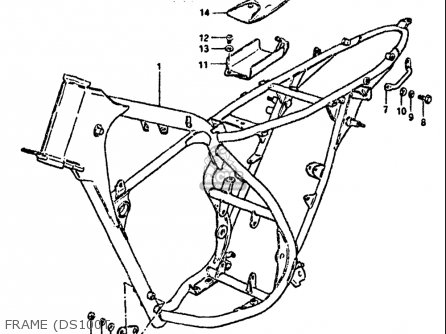 Suzuki Ds100 1978-1981 usa Frame ds100t