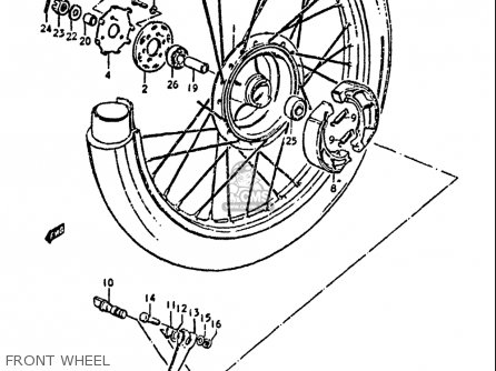 Suzuki Ds100 1978-1981 usa Front Wheel