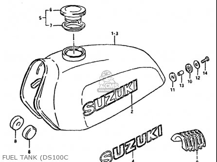 Suzuki Ds100 1978-1981 usa Fuel Tank ds100c