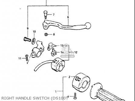 Suzuki Ds100 1978-1981 usa Right Handle Switch ds100t