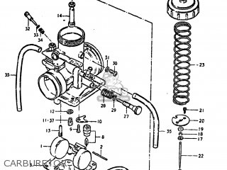 Suzuki Ds250 1980 t Usa e03 Carburetor