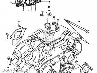 Suzuki Ds250 1980 t Usa e03 Crankcase