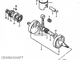 Suzuki Ds250 1980 t Usa e03 Crankshaft