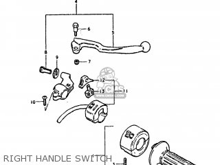 Suzuki Ds250 1980 t Usa e03 Right Handle Switch