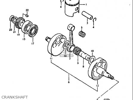 Suzuki Ds250 1980 usa Crankshaft