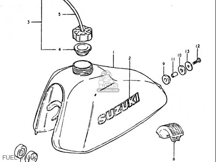 Suzuki Ds250 1980 usa Fuel Tank