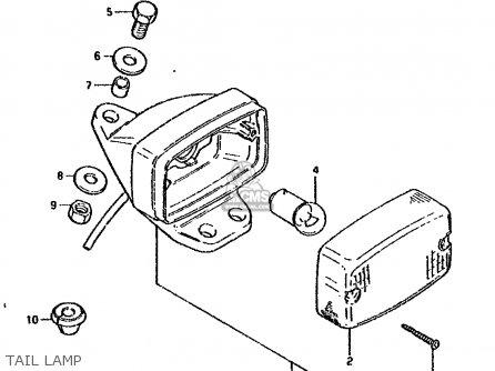 suzuki ds80 1985  f  parts list partsmanual partsfiche