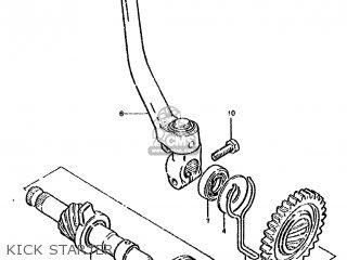 suzuki ds80 1991  m  parts list partsmanual partsfiche