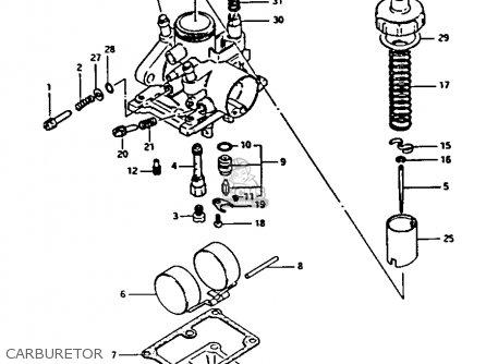 Suzuki Fa50 1985 f Carburetor