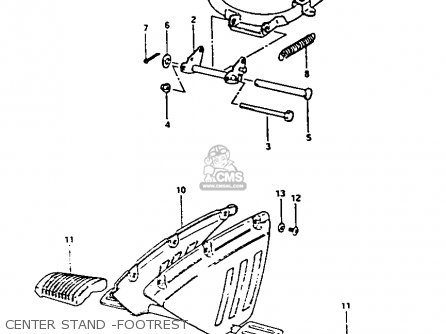 Suzuki Fa50 1985 f Center Stand -footrest
