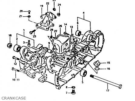 Suzuki Fa50 1985 f Crankcase