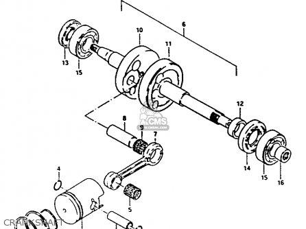 Suzuki Fa50 1985 f Crankshaft
