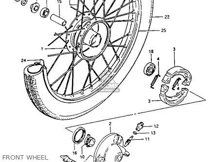 Suzuki Fa50 1985 f Front Wheel