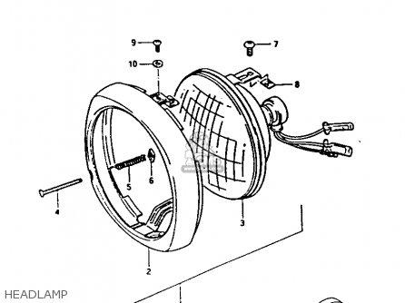 Suzuki Fa50 1985 f Headlamp