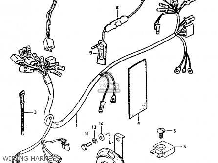 Suzuki Fa50 1985 f Wiring Harness