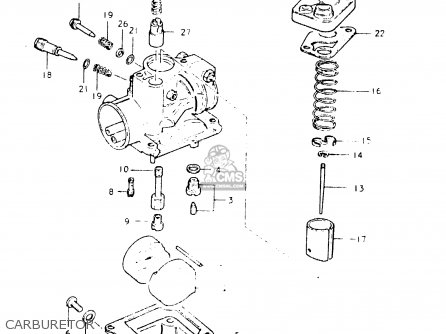 Suzuki Fr50 1981 x e01 E02 E06 E13 E24 Carburetor