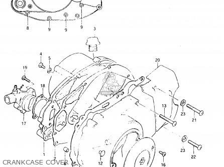 Suzuki Fr50 1981 x e01 E02 E06 E13 E24 Crankcase Cover