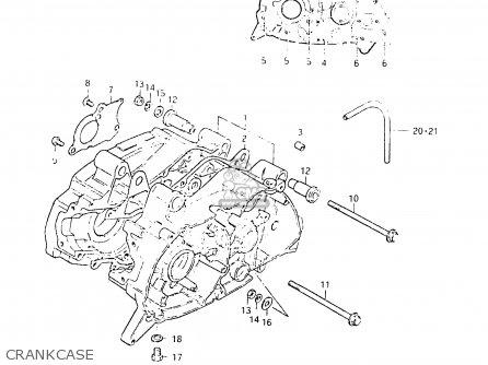 Suzuki Fr50 1981 x e01 E02 E06 E13 E24 Crankcase