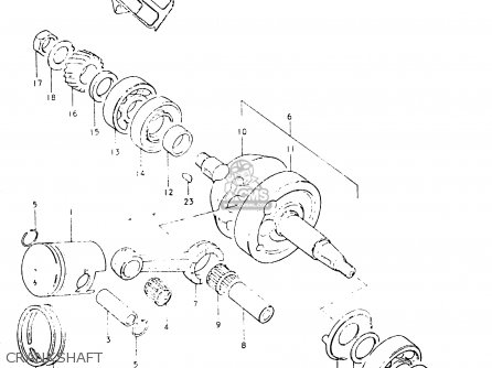 Suzuki Fr50 1981 x e01 E02 E06 E13 E24 Crankshaft