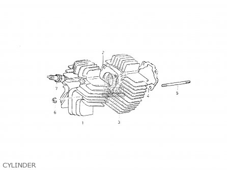Suzuki Fr50 1981 x e01 E02 E06 E13 E24 Cylinder