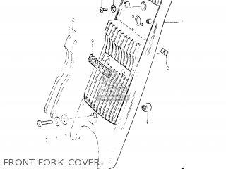 Suzuki Fr50 1981 x e01 E02 E06 E13 E24 Front Fork Cover