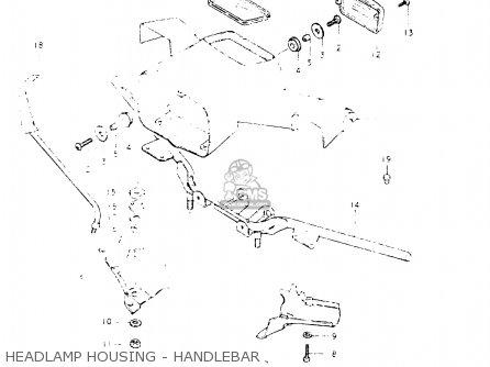 Suzuki Fr50 1981 x e01 E02 E06 E13 E24 Headlamp Housing - Handlebar