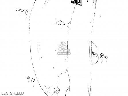 Suzuki Fr50 1981 x e01 E02 E06 E13 E24 Leg Shield