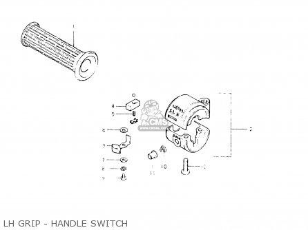 Suzuki Fr50 1981 x e01 E02 E06 E13 E24 Lh Grip - Handle Switch