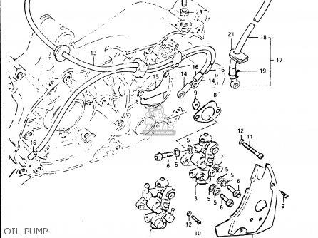 Suzuki Fr50 1981 x e01 E02 E06 E13 E24 Oil Pump