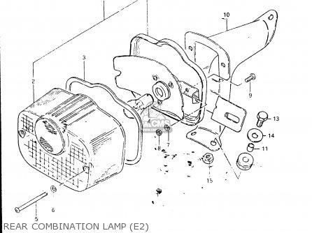 Suzuki Fr50 1981 x e01 E02 E06 E13 E24 Rear Combination Lamp e2