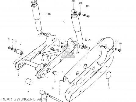 Suzuki Fr50 1981 x e01 E02 E06 E13 E24 Rear Swinging Arm