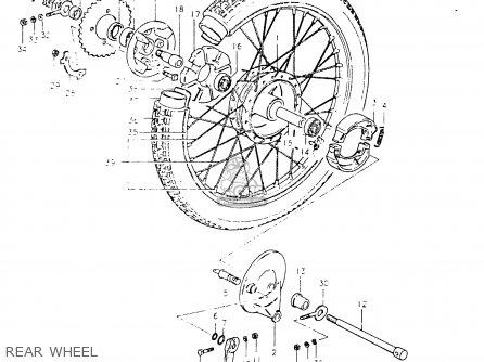 Suzuki Fr50 1981 x e01 E02 E06 E13 E24 Rear Wheel