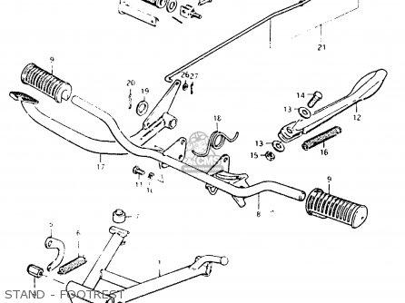 Suzuki Fr50 1981 x e01 E02 E06 E13 E24 Stand - Footrest