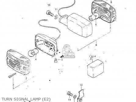 Suzuki Fr50 1981 x e01 E02 E06 E13 E24 Turn Signal Lamp e2