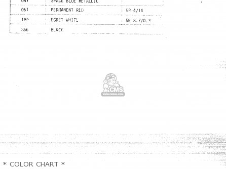 Suzuki Fr50 1981 x e01 E02 E06 E13 E24   Color Chart