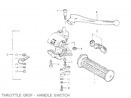 Suzuki Fr50 1981 x Throttle Grip - Handle Switch